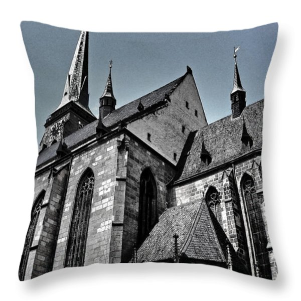 St. Bartholomew Cathedral - Pilsen Throw Pillow by Juergen Weiss