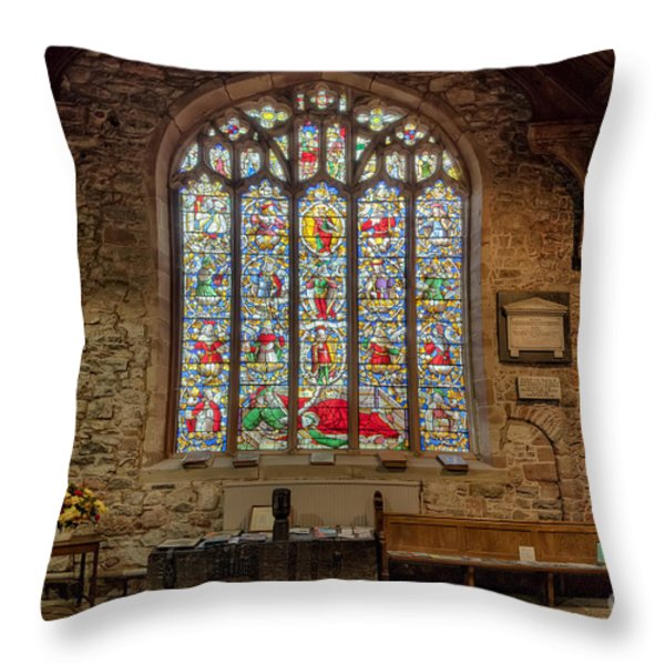 St Dyfnog Throw Pillow by Adrian Evans