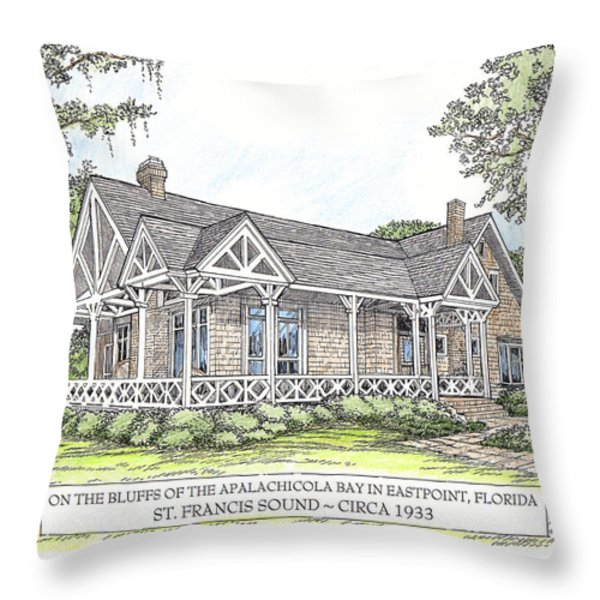 St Francis Sound Circa 1933 Throw Pillow by Audrey Peaty