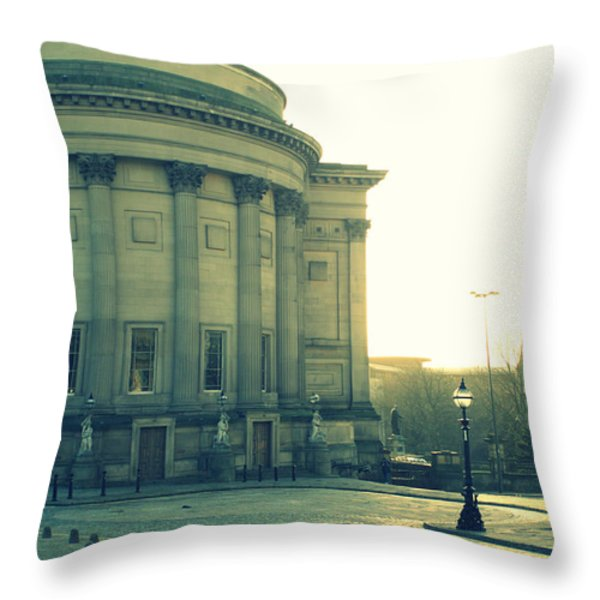 St Georges Hall Liverpool Throw Pillow by Nomad Art And  Design