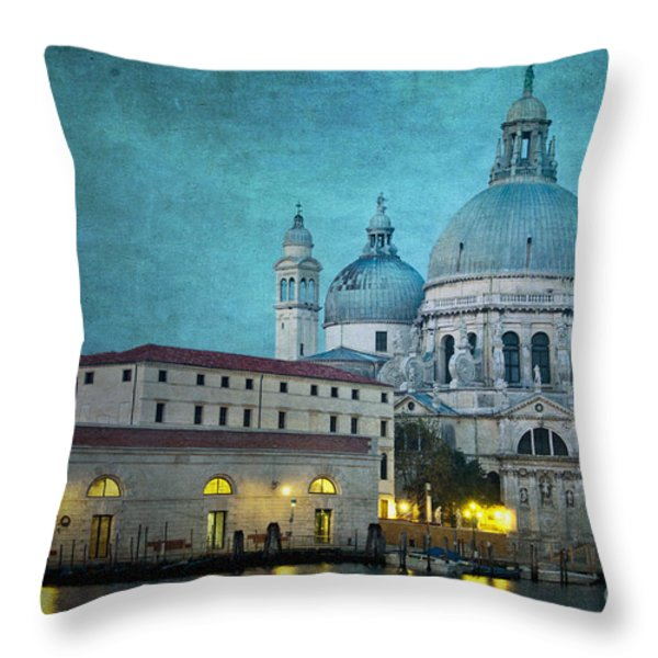 St Maria Della Salute From St Mark's  Throw Pillow by Marion Galt