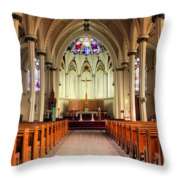 St. Mary's Basilica Halifax Throw Pillow by Kristin Elmquist