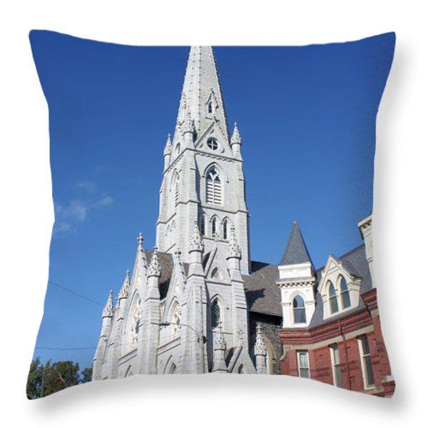 St. Mary's Basilica Throw Pillow by Kristin Elmquist