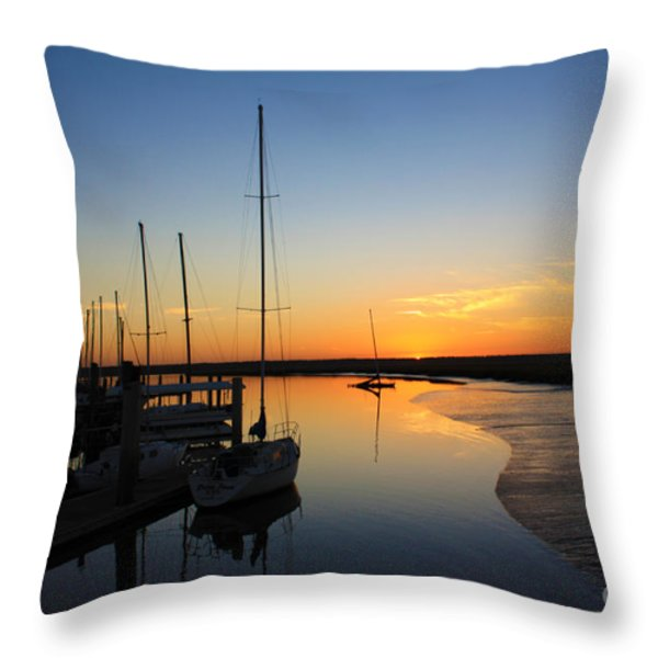 St. Mary's Sunset Throw Pillow by M J Glisson