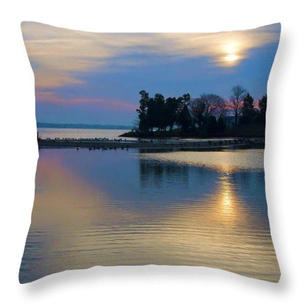 St. Michael's Sunrise Throw Pillow by Bill Cannon