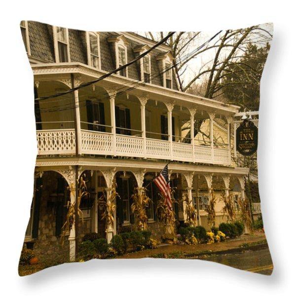 St. Peter's Village Throw Pillow by Trish Tritz