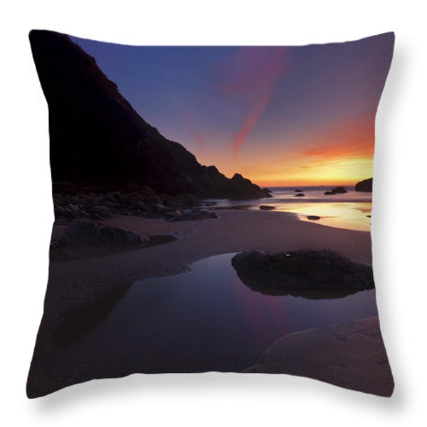 Stacked Reflections Throw Pillow by Mike  Dawson