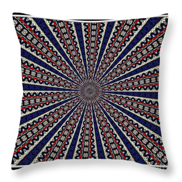Stained Glass Kaleidoscope 49 Throw Pillow by Rose Santuci-Sofranko