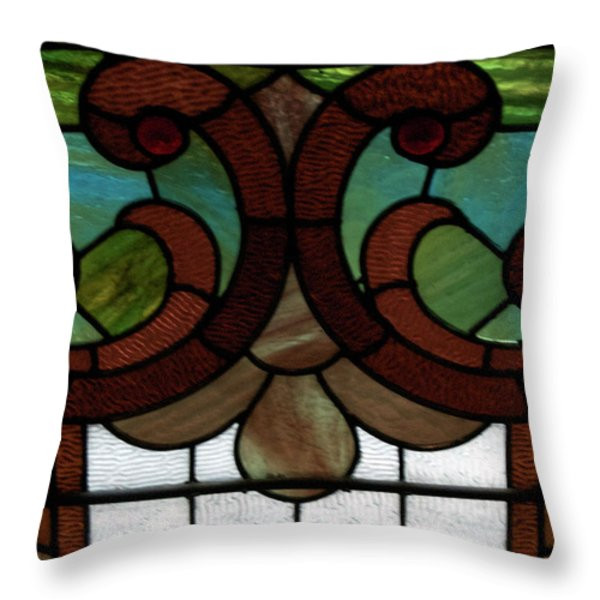 Stained Glass Lc 08 Throw Pillow by Thomas Woolworth