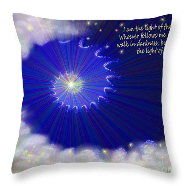 Stairway To Heaven Throw Pillow by Methune Hively