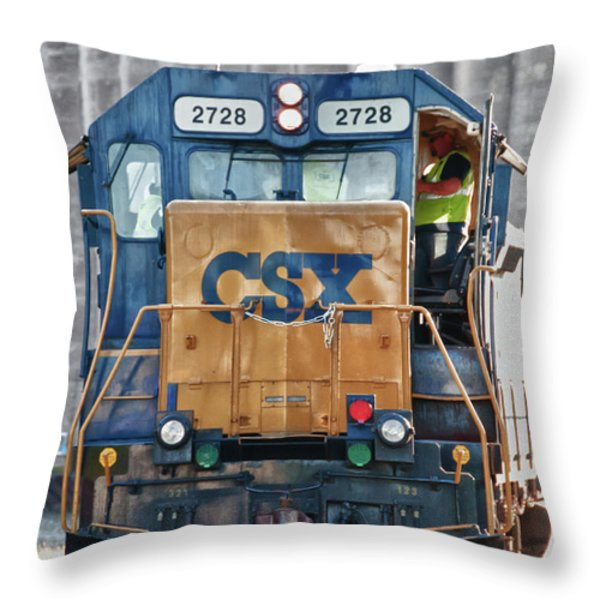 Stalled 7141 Throw Pillow by Guy Whiteley