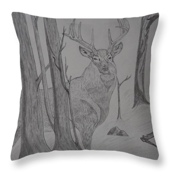 Stand Off Throw Pillow by Gerald Strine