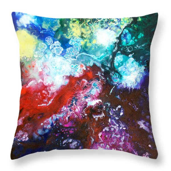 Star Clusters Throw Pillow by Sally Trace