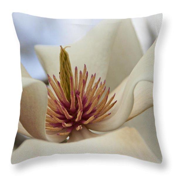 Star Magnolia Throw Pillow by Benanne Stiens