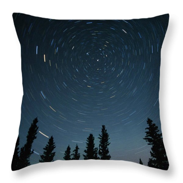 Star Trails, Sandilands Provincial Throw Pillow by Mike Grandmailson