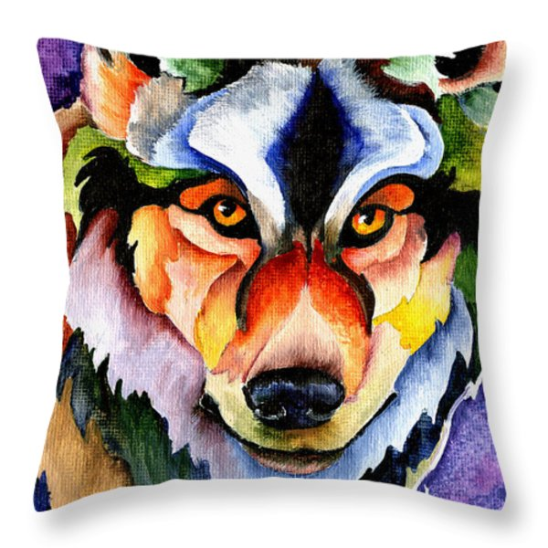 Stare Down Throw Pillow by Sherry Shipley