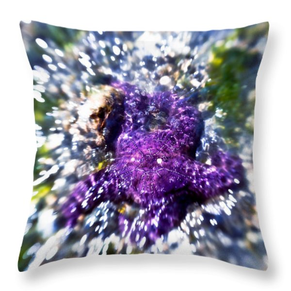 Starfish In The Surf Throw Pillow by Venetta Archer