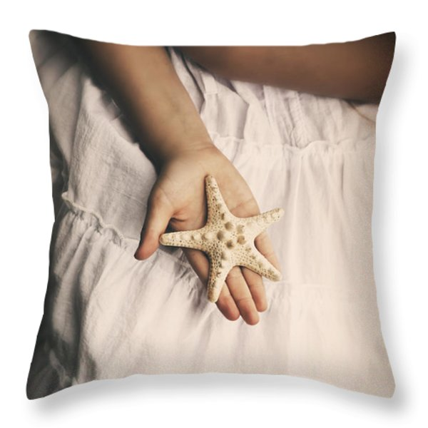 Starfish Throw Pillow by Joana Kruse