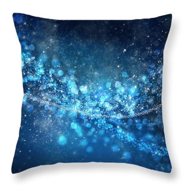 stars and bokeh Throw Pillow by Setsiri Silapasuwanchai