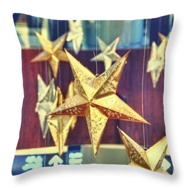 Stars Throw Pillow by Charuhas Images