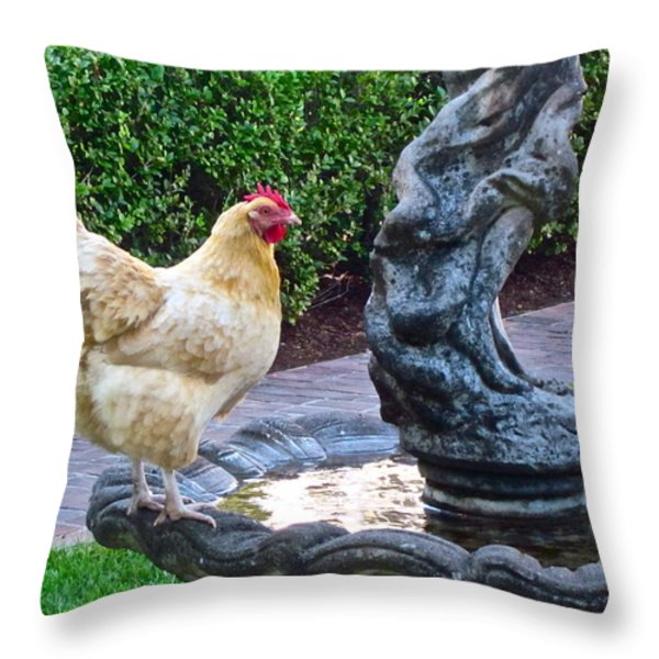 Statuesque Throw Pillow by Gwyn Newcombe