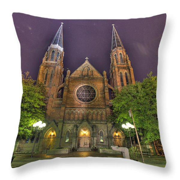 Ste. Anne de Detroit Throw Pillow by Nicholas  Grunas