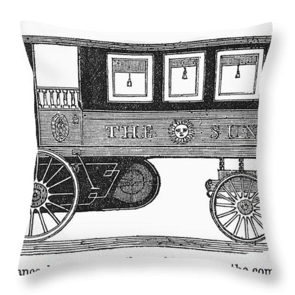 Steam Omnibus, 1830s Throw Pillow by Granger
