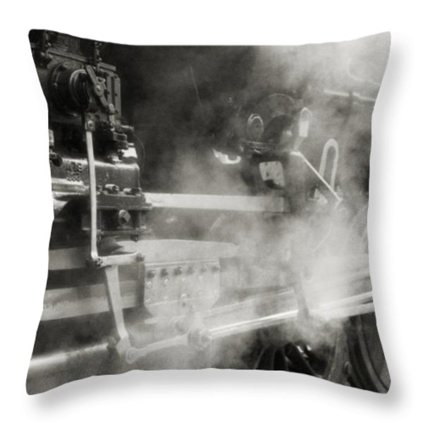 Steam Power Throw Pillow by Richard Rizzo