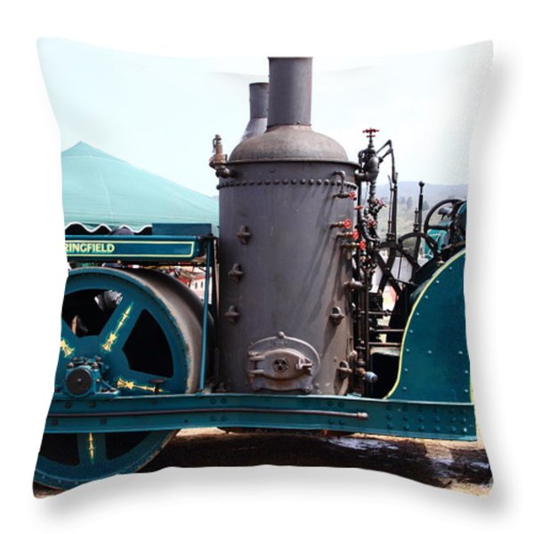 Steam Powered Roller 7d15116 Throw Pillow by Wingsdomain Art and Photography