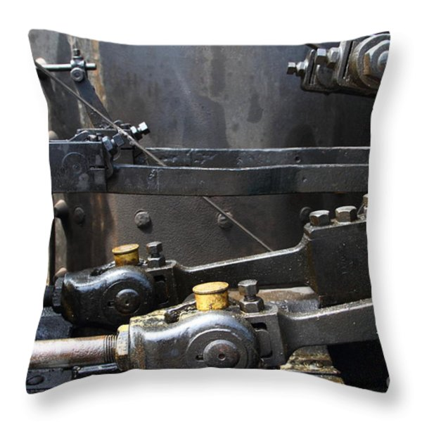 Steam Roller Engine Gizmos 7d15114 Throw Pillow by Wingsdomain Art and Photography