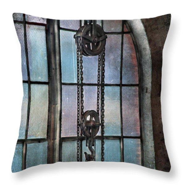 Steampunk - Gear - Importance Of Industry Throw Pillow by Mike Savad