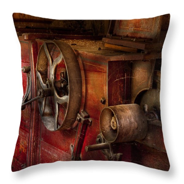 Steampunk - Gear - It Used To Work Throw Pillow by Mike Savad