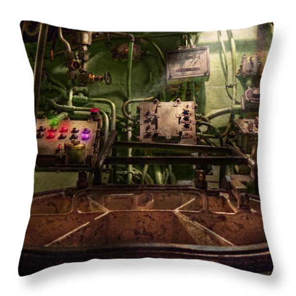 Steampunk - Naval - This is where I do my job Throw Pillow by Mike Savad
