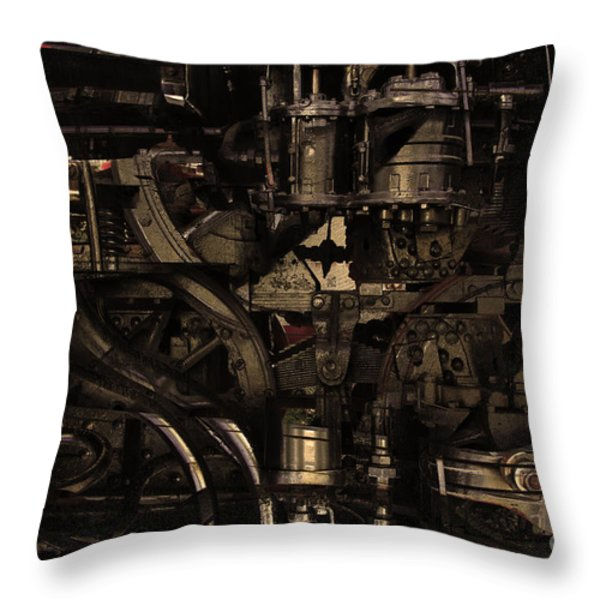 Steampunk Patent 1215 Prototype B . Gold Version Throw Pillow by Wingsdomain Art and Photography