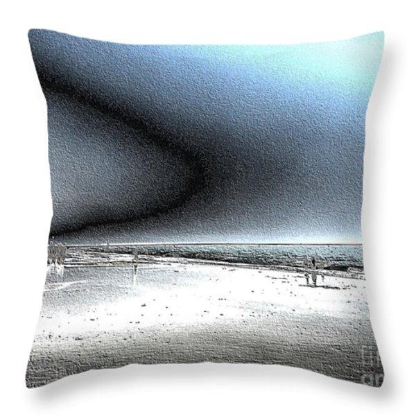 Steel Beach Throw Pillow by Dana Patterson