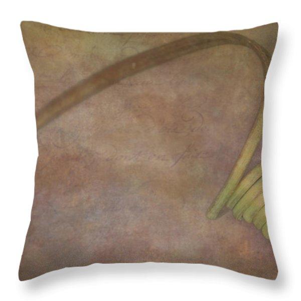 Stem Curls Throw Pillow by Susan Candelario