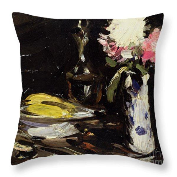 Still Life Throw Pillow by Samuel John Peploe