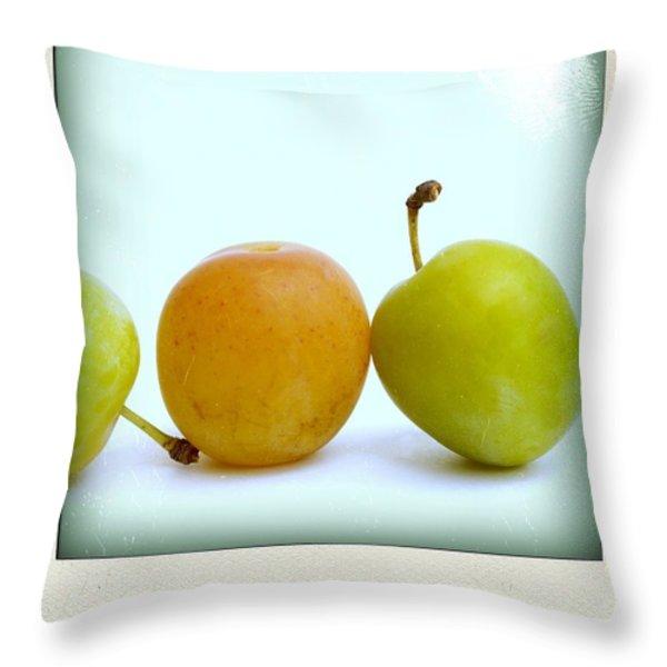 Still life with plums. Throw Pillow by BERNARD JAUBERT