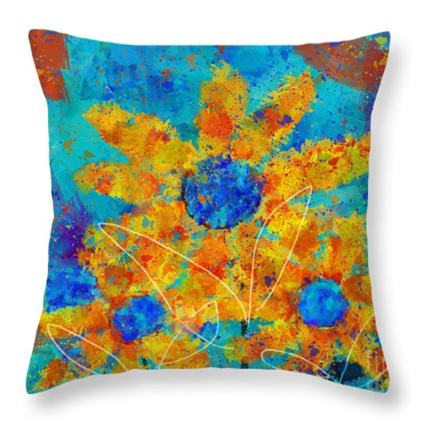 Stimuli Floral s01 Throw Pillow by Variance Collections