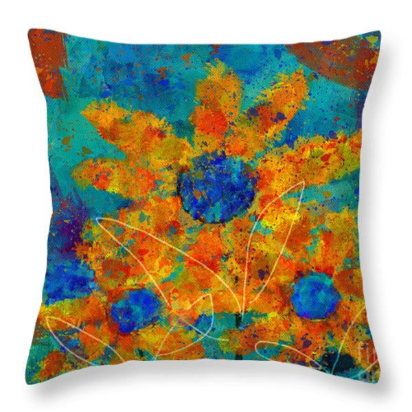 Stimuli Floral -s01t01 Throw Pillow by Variance Collections