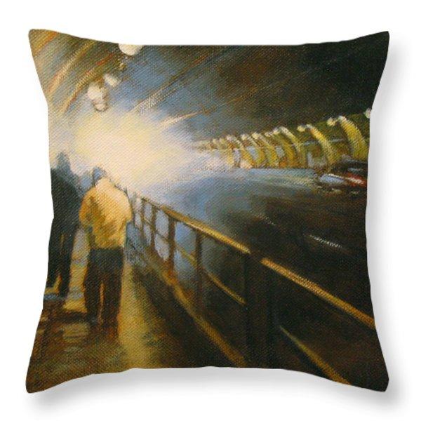 Stockton Tunnel Throw Pillow by Meg Biddle