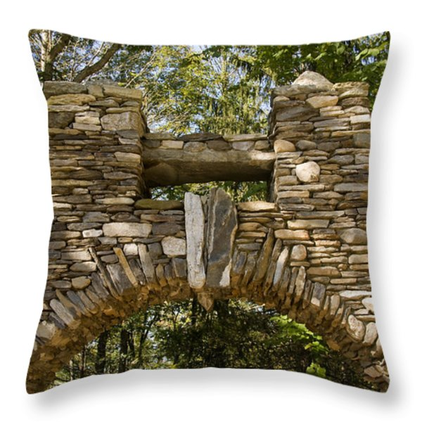 Stone Archway At The Entrance Throw Pillow by Todd Gipstein