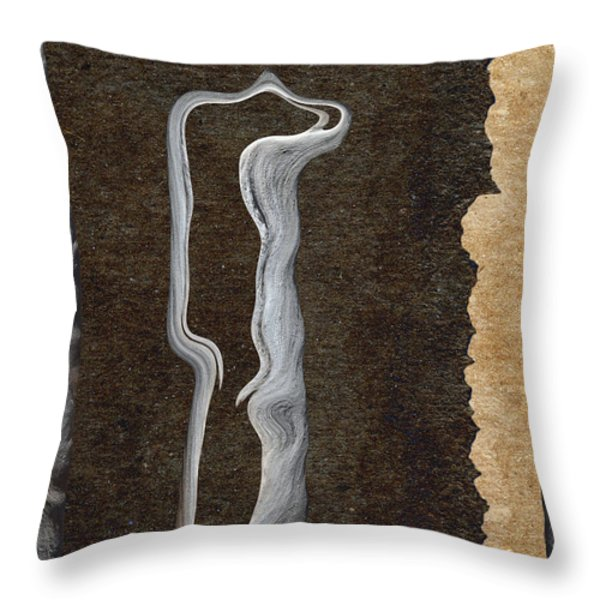 Stone Men 01 - Her Throw Pillow by Variance Collections