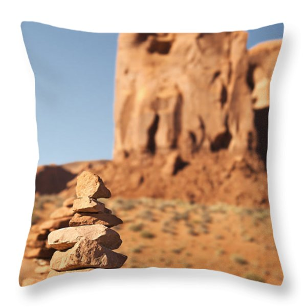 Stone stack. Throw Pillow by Jane Rix