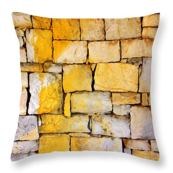 Stone Wall Throw Pillow by Carlos Caetano