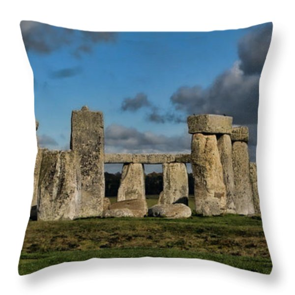 Stonehenge Throw Pillow by Heather Applegate