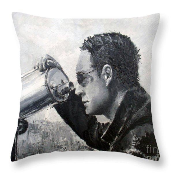 Stopping time Throw Pillow by Tatjana Popovska