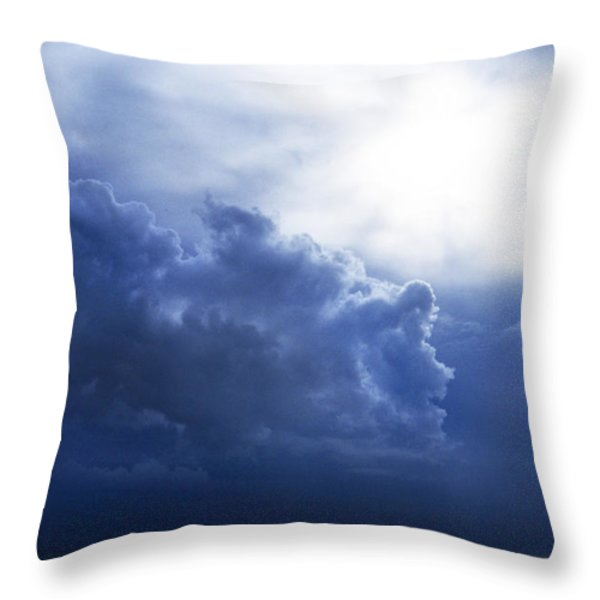 STORM ANGEL Throw Pillow by Skip Willits