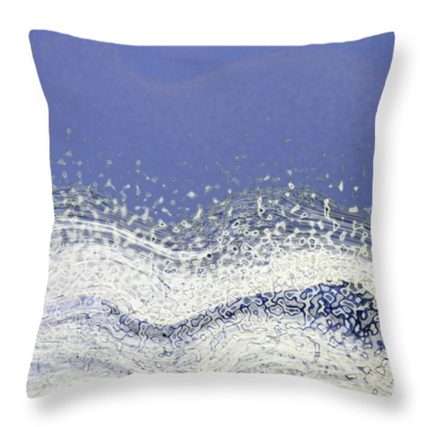 Storm at Sea Throw Pillow by Bonnie Bruno