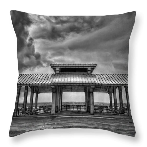 Storm Before The Calm Throw Pillow by Evelina Kremsdorf